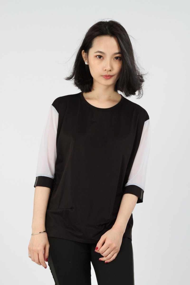 Hem Catch Sucking Sleeve - Black