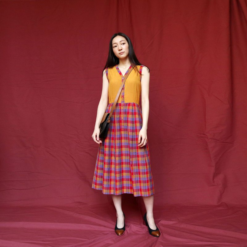 Pumpkin Vintage. Vintage check dress