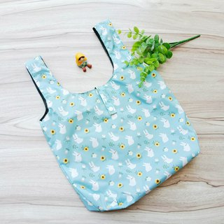 [Waterproof Shopping Bag] Water Blue Rabbit (Large)