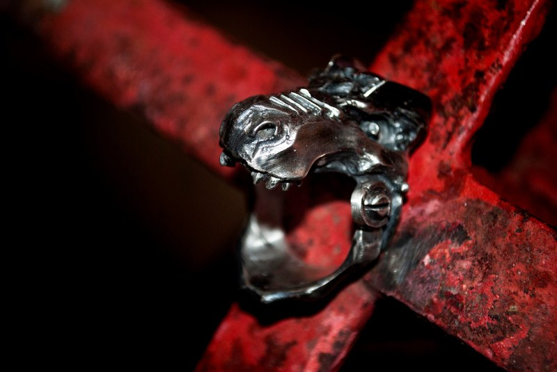 Alarein/Handmade Silver/Knight Series/Ring/Mechanical Tyrannosaurus