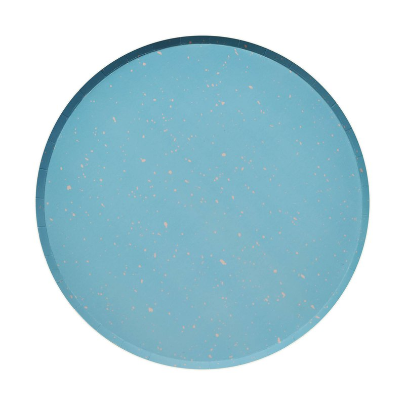 Party paper plate bluestone 9 inch disc