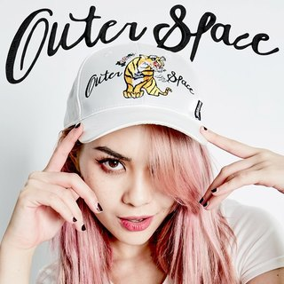 OUTER SPACE Yokosuka embroidery hard hat (white)