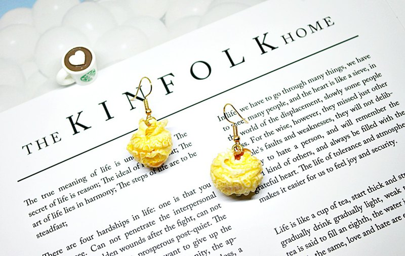 Alloy <Caramel Mushroom Popcorn>_Hook Earrings #俏皮#可爱#Creative Design