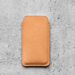 Nude color genuine leather sleeve pouch case