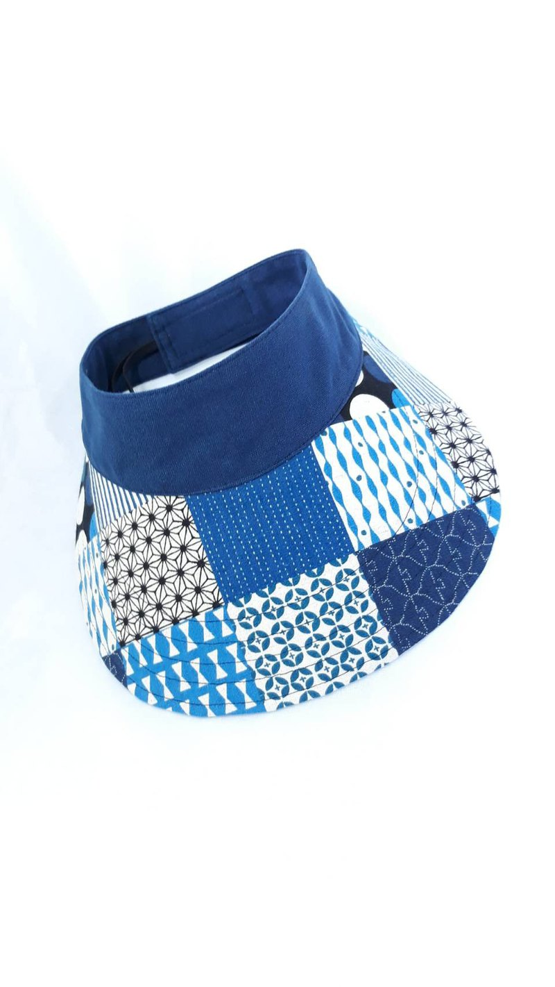 Blue block collage sports sunhat