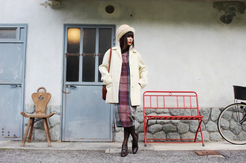 F3050 (Vintage Jacket) Wool Coat Milky North wool coat (Christmas gift Christmas exchange gift)