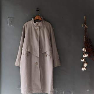 Okinawa elephant gray collar youth fall age antique thin windbreaker jacket trench coat