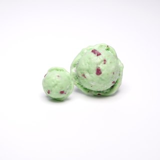 *Playful Design* Mint Ice Cream with Chocolate Chips Earrings