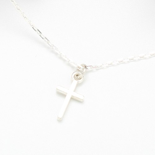 Mini Simple Cross (Small) Cross ク ロ ス s925 sterling silver necklace New Year's gift Valentine's Day