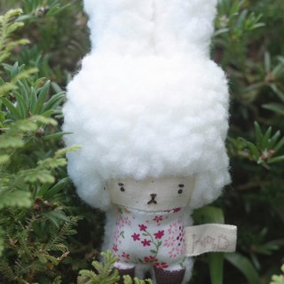 Doll Bunny - Pink Fun Flower - White Snow -2018096