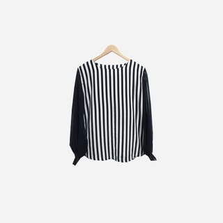 Dislocation vintage / chiffon sleeve straight top no.118 vintage