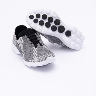 [Jumping Mosaic] Washed stretch woven ultra lightweight casual shoes _ space silver ash
