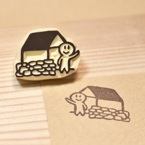 Country house handmade rubber stamp