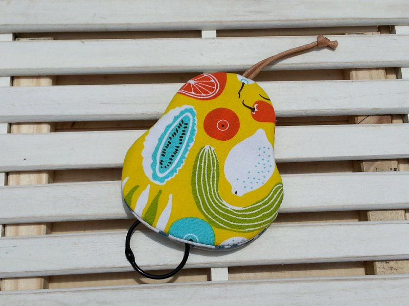 Fruits and vegetables pear-shaped key fob [K170409]