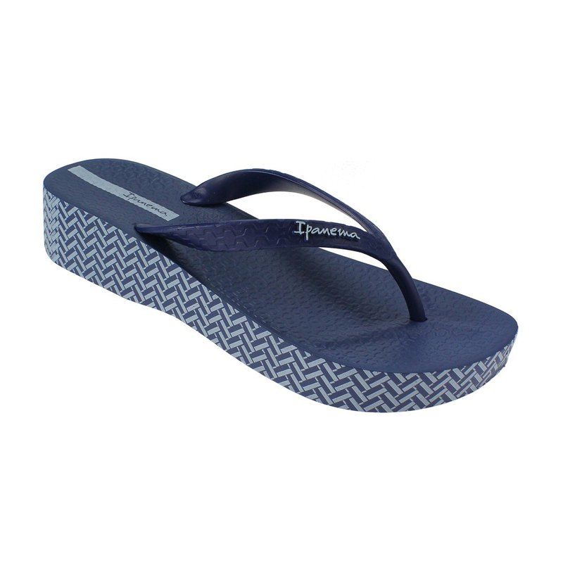 IPANEMA printed wedge type thick bottom pinch female blue IP2599220729
