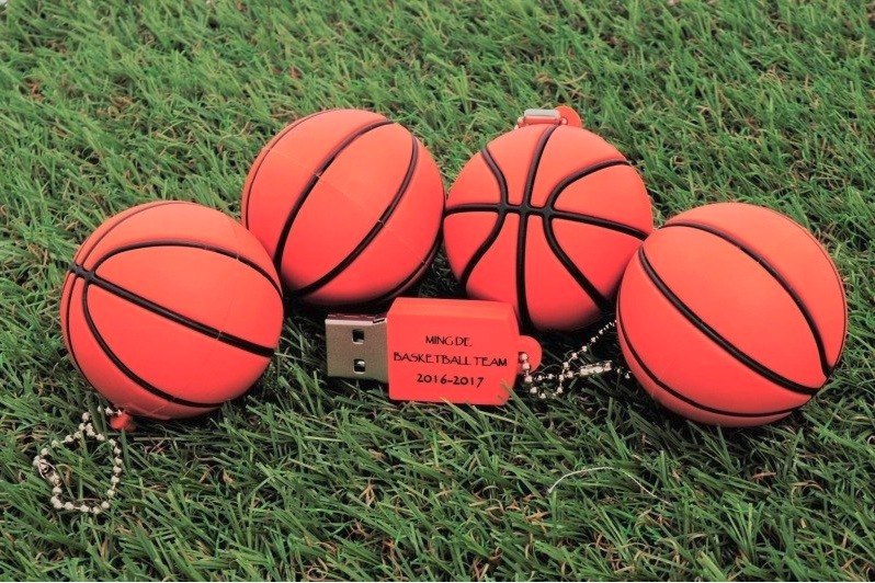Basketball modeling pen drive 32GB + single-sided printing