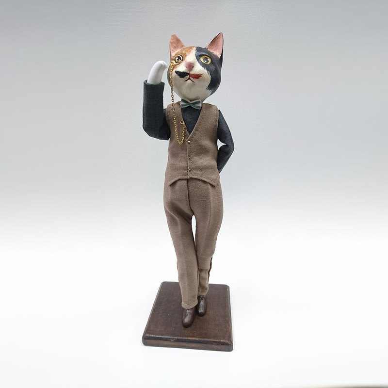 Handmade doll - cat gentleman