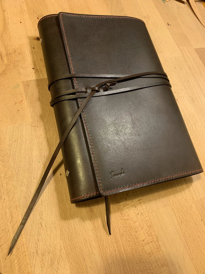 Custom hand-made hand-dyed leather multiple passport holder
