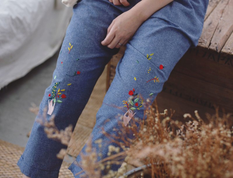 Flower Hand Pants : free size