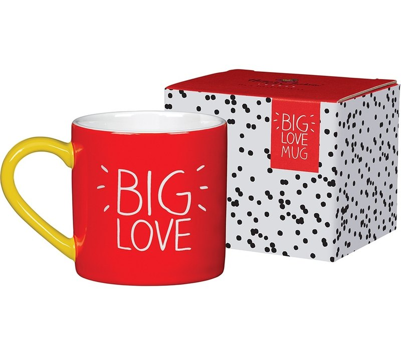 SUSS- British color text design BIG LOVE (great love) mug --- stock free shipping