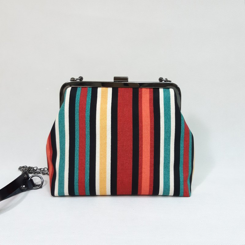 Personalized striped gold bag / cross-body bag / side bag / carry-on bag