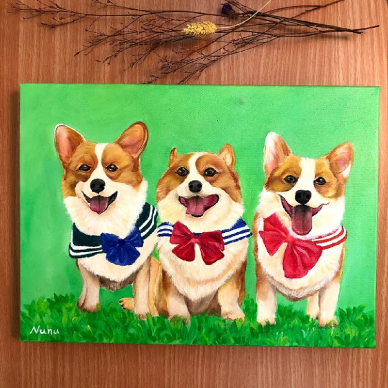 Pet oil painting customized