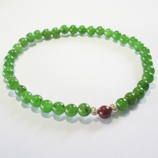 """Taiwan jade series"" Taiwan jade silver bracelet level: AA 4mm simple models / pendant models"