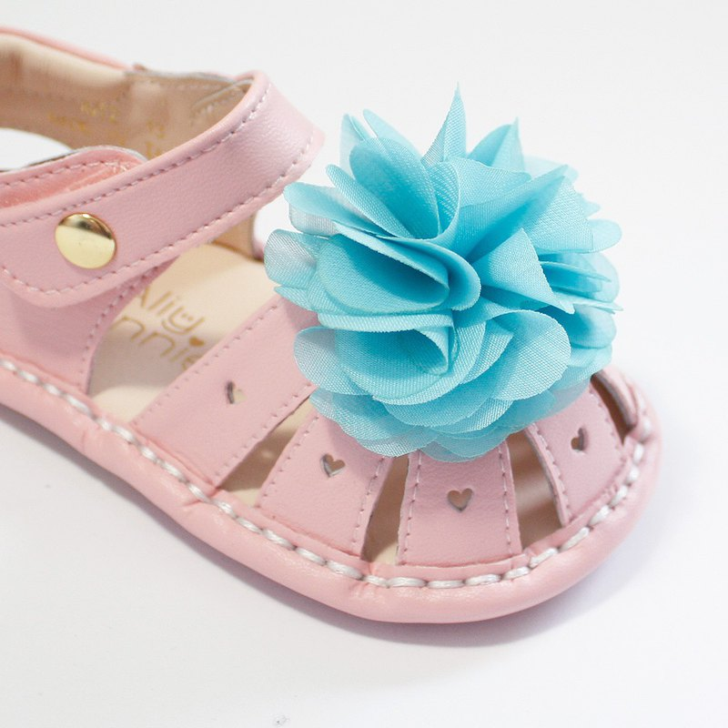 Hawaii Summer Flower Baby Sandals - Icing Powder - Designer aliybonnie