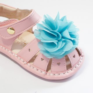 Hawaii Summer Flower Baby Sandals - Icing Powder