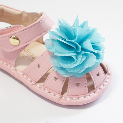 Hawaii Summer Flower Baby Sandals - Sugar Powder