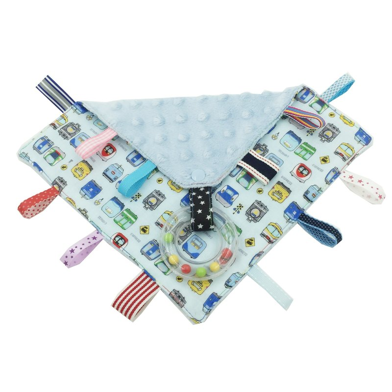 F13-handmade 2 in 1 handbell label appease towel can be used as pacifier chain Japanese double yarn X2 times = 4 layers
