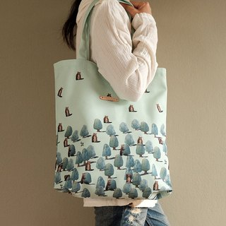 Tote bag :  BEARS IN PINES