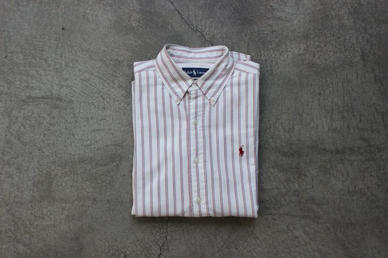 Polo red and white striped shirt