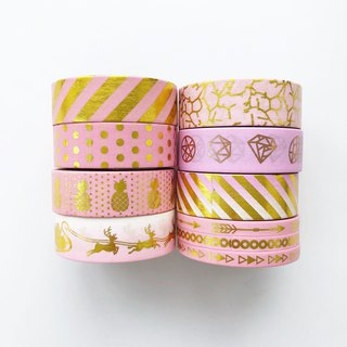 Pink Gold Foil Washi Tape