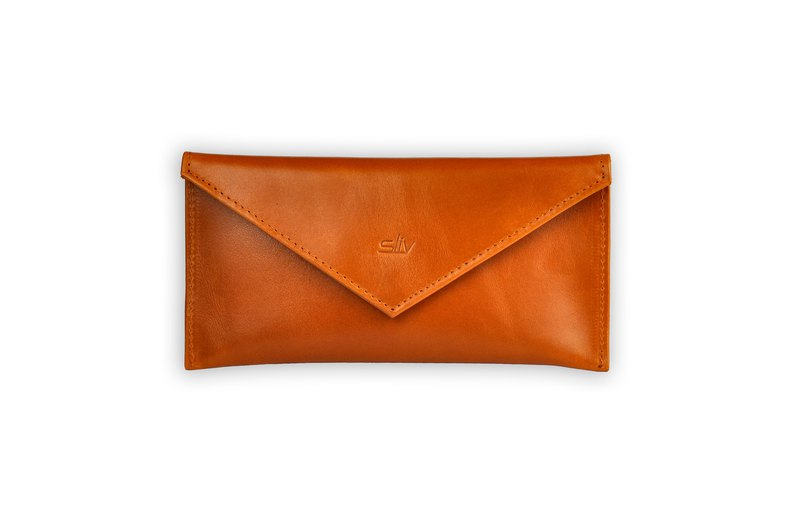 Verona Leather Envelope (Tan)