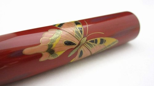 "AGJ Original Maki-e Fountain pen ""Butterfly"" Sailor 21K nib #45"