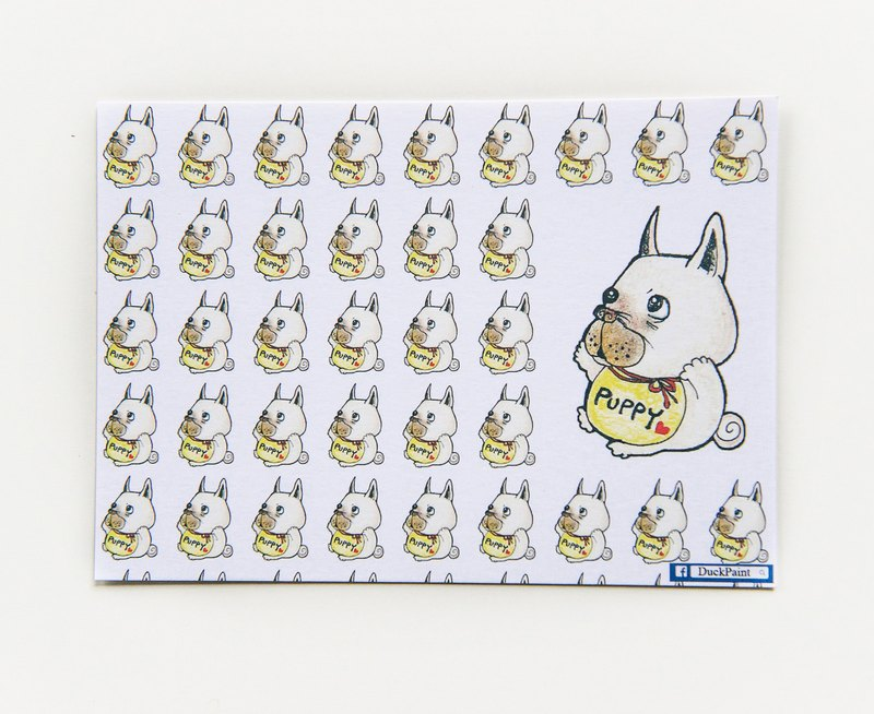 French Bulldog / postcard