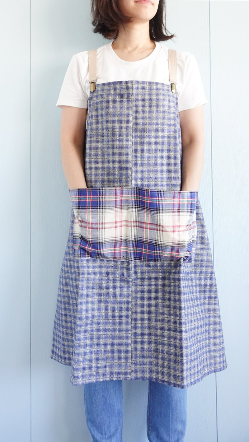 Brut Cake - Handmade Textile Ancient Cloth Sling Apron (1) Suitable for both kitchen and work