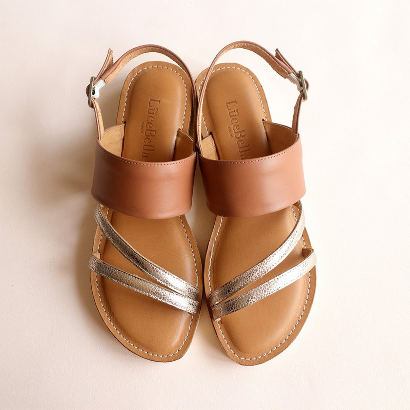 【Triphony】leather sandals - Brown