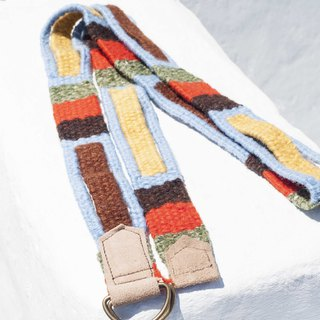 Boyfriend Gift Woven Wool Belt / Tibetan Weave Belt - Tropical Africa Colorful Geometric Rainbow