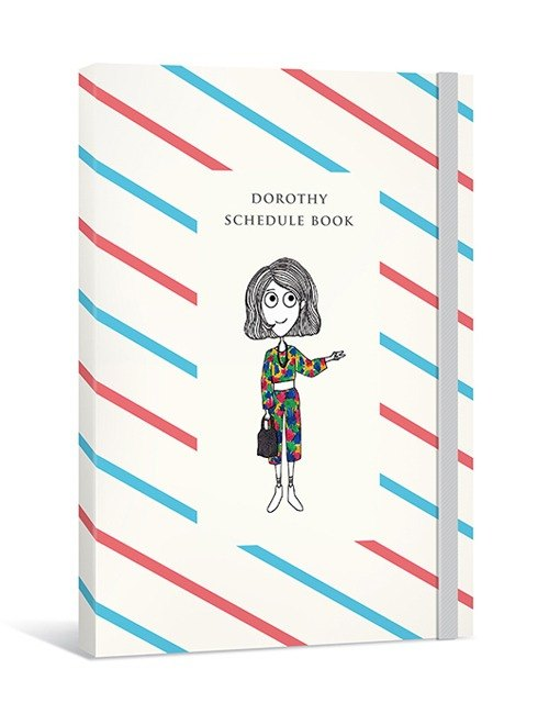 Dorothy no aging logbook (with decorative stickers, people bookmarks) red and blue twill
