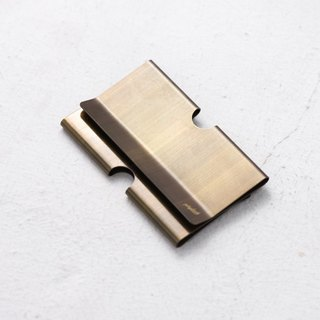 Brass Card Clip - Dyed