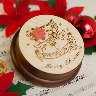 [customized gift] Christmas elk party │ music box Memo folder