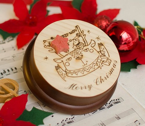 [Customized gift] Christmas party elk │ music box Memo clip
