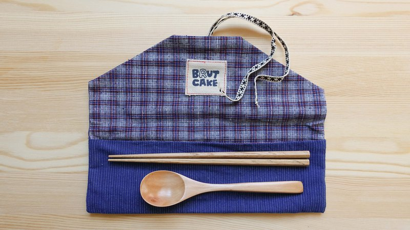 Brut Cake - Envelope Handmade Textile Ancient Cloth Reel Environmental Cutlery Set (8)