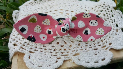 Panda rice balls double-sided rabbit ears / bow hair bundle [B170729]