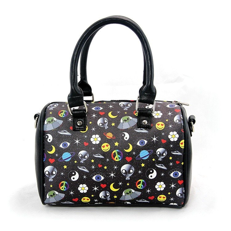 Ashley. M - Alien Collage Satchel