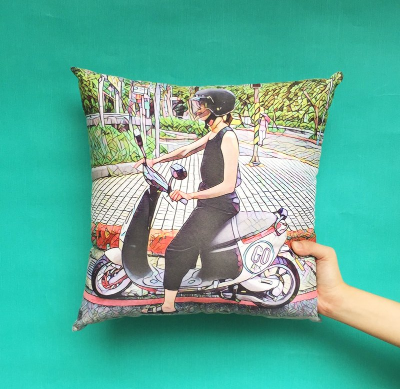 customize Prisma-Effect photo Pillow