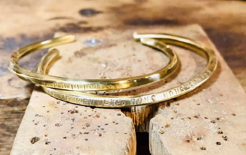 【ワークショップ】One day experience DIY / brass bracelet / metalwork / bracelet