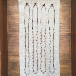 Campanula Long necklace bell flower glass beads long necklace